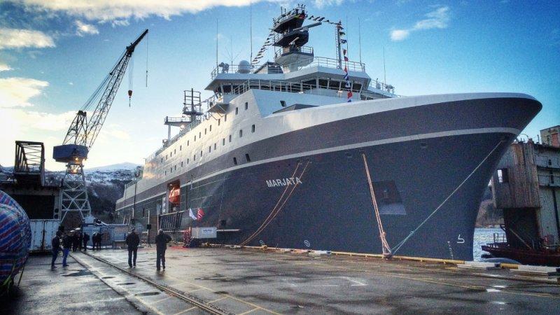 Новый шпионский корабль Норвегии Foto: Remi Sagen / NRK